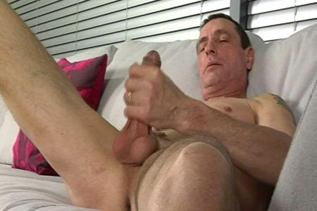 Mature gay jerk off